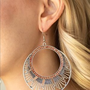 Cute copper accent earrings